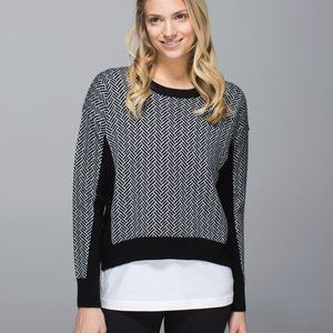Lululemon Yogi Crew Sweater merino wool size 4